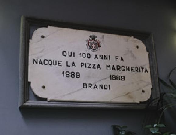 1989年にマルゲリータが100年を迎えた記念のパネル